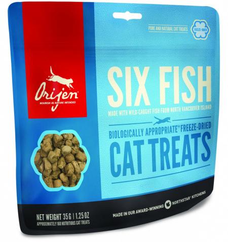 Лакомство для кошек Orijen FD Six Fish Cat