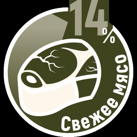 Свежее мясо 14%
